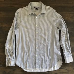 MICHAEL KORS MEN STRIPED DRESS LONG SLEEVE SHIRT